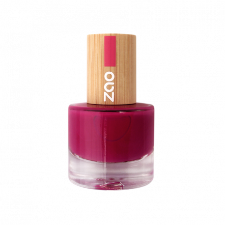Vernis à ongles 663 Rouge Sombre Zao Make Up