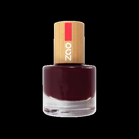 Vernis à ongles 659 Rouge Cerise Noire Zao Make Up
